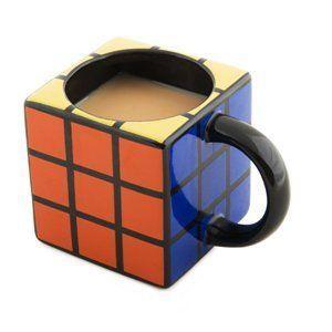 Mug cubo di Rubik: tazza in ceramica, dello stesso servizio sono disponibili anche sottobicchieri, promememoria e altoparlanti In vendita su www.amazon.com