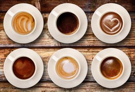 tazzine di caffè collage su legno